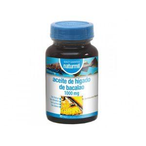 Aceite de Higado de Bacalao 1000 mg. 45 Perlas Naturmil.