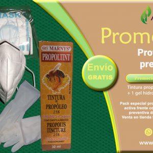 pack gel hidro alcoholico + 10pares de guantes + 2 mascarillas nk95 + tintura de propoleo.